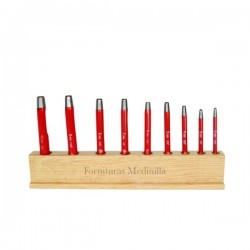Juego de boquillas con expositor de madera