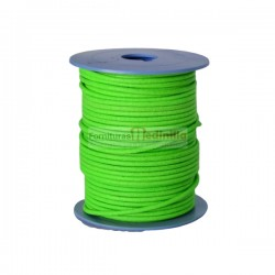 F.Green leather cord, 25...