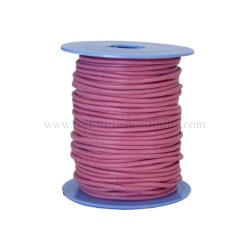 Pink.G leather cord, 25 meters