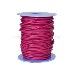 F.Pink leather cord, 25 meters