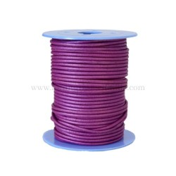 P.Pink leather cord, 25 meters