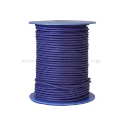 Lilac leather cord, 25 meters