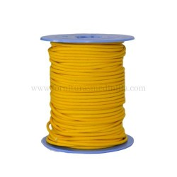 Yellow leather cord, 25 meters