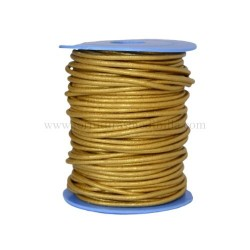 Gold leather cord, 25 meters