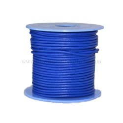 E.Blue leather cord, 25 meters
