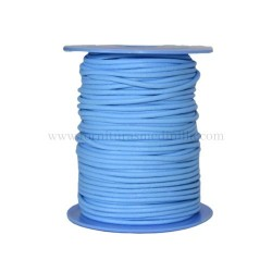L.Blue leather cord, 25 meters