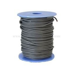 Grey leather cord, 25 meters