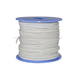White leather cord, 25 meters