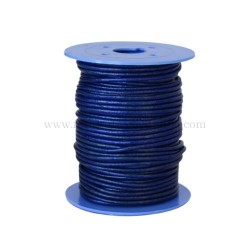 O.Blue leather cord, 25 meters