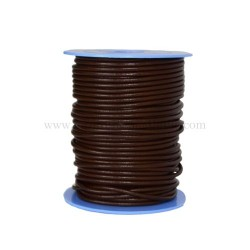Brown leather cord, 25 meters