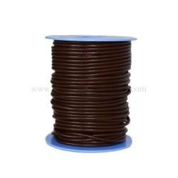 cordon de piel marron para trabajos artesanales y marroquineros