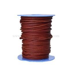 Coñac leather cord