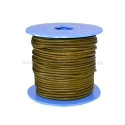 Cordones de cuero para la fabricación de pulseras de cuero y colgantes, material para bisuteria al por mayor