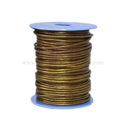 O.Gold leather cord, 25 meters