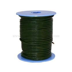 D.Green leather cord, 25...