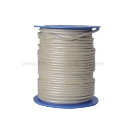 Silver leather cord, 25 meters