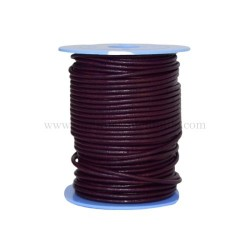 Bordeaux leather cord, 25...