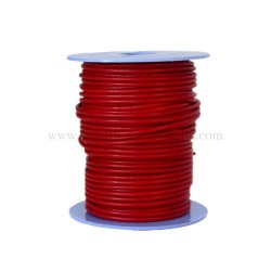 Red leather cord, 25 meters