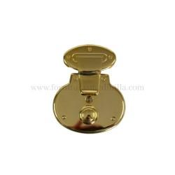 cerradura redonda de oro para bolsos de piel