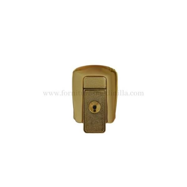 cerradura de oro para la marroquineria y el cuero