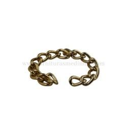 cadena de oro resistete para bolsos y bandoleras artesanales en cuero