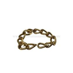 Cadena limada oro (9MM X 2.5MM) para bolsos y marroquineria