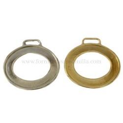 Oval shaped keychain