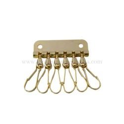 Keychain 6 hooks nickel/gold