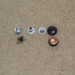 broches de presion o corchetes metalicos para cierres de carteras y monederos