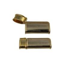 Venta al por mayor de fundas de mechero metalicas con tapa en color plateado y dorado.