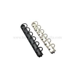 Mecanismo anillos planificador personal, planificador de fabricacion 6 anillos negro y plata